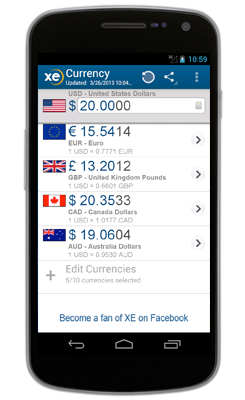 XE Currency App for Android