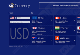 XE Currency App for Windows 8, screencap 2