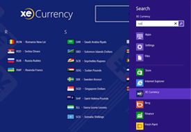 XE Currency App for Windows 8, screencap 4