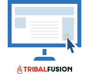 Computer monitor image with Tribal Fusion Logo
